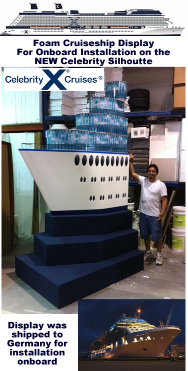 Custom Retail Displays and Props - For Cruise Ship Retails Store