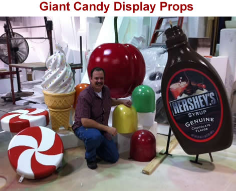 Custome Made Foam Candy Props - Giant and Big