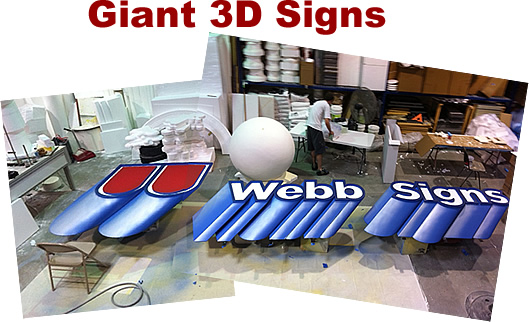 Giant big 3D Foam Signs and Logos Letters