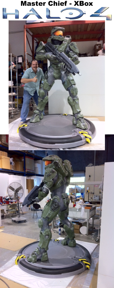 Master Chief Life size Sculpture Statue Foam Prop