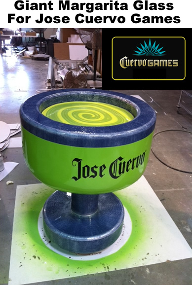 Custom Foam Prop Display Jose-Cuervo-Games-Giant-Margarita-glass