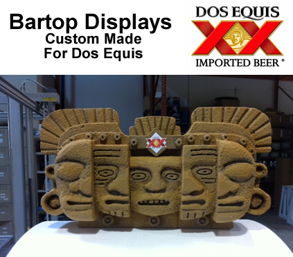 foam bartop display prop for Dos Equis