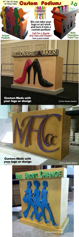 Custom Made Foam Podium Props -Displays