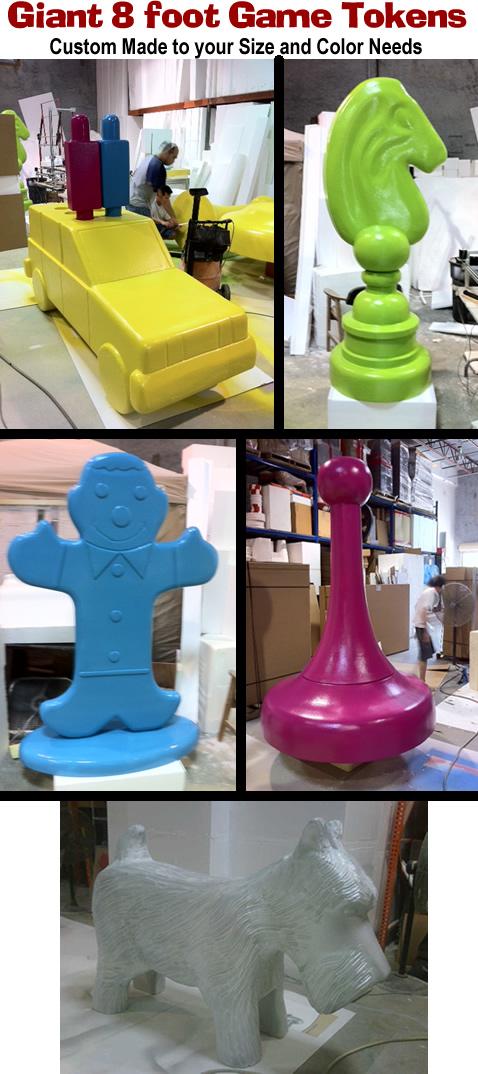 Big/Giant Board Game Tokens Foam Props