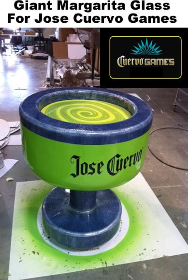 Custom Foam Prop Display Jose-Cuervo-Games-Giant-Margarita-glass