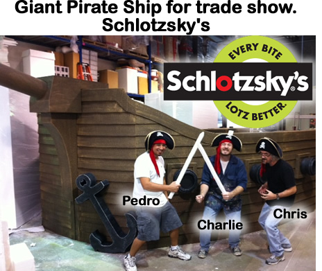 Giant Foam Pirate Ship Foam Prop / Display for Trade Show