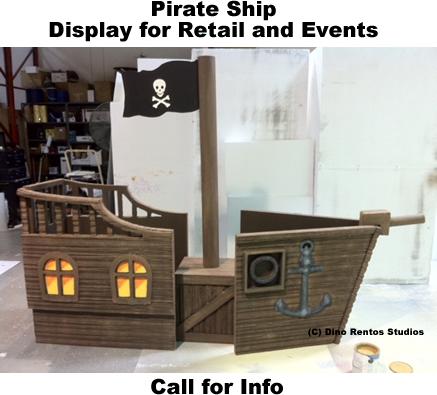 Custom Pirate Ship Retail Foam Prop Display