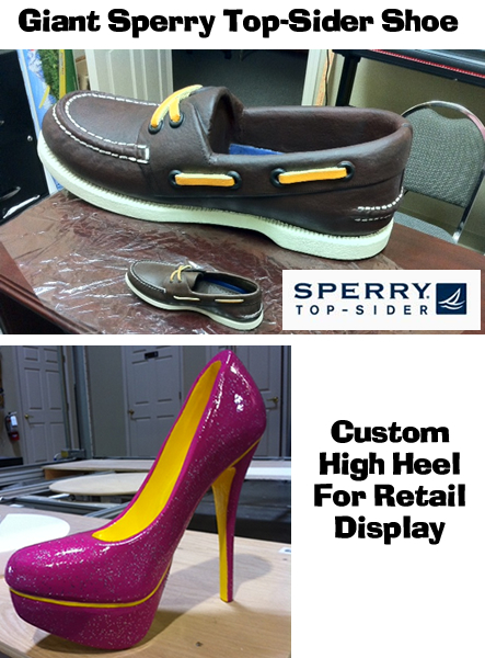 Gaint foam prop Sperry TopSider shoes and sneakers