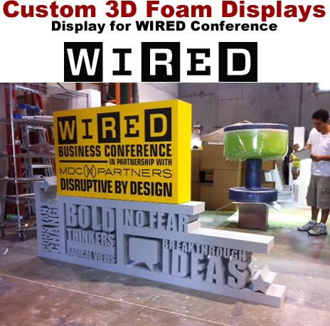 Custom Foam Letter Number Logo Displays