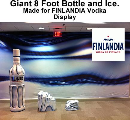 Giant Vodka Bottle Foam Prop for Finlanda Retail Display
