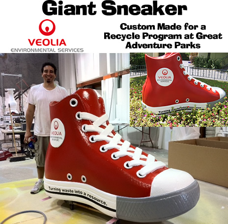 Gaint foam prop shoes and sneakers