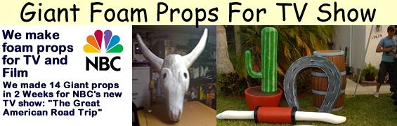 Custom Giant Foam Props for TV Show NBC