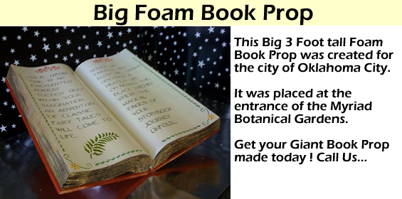 Big 3 foot book Foam Prop