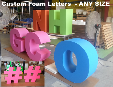 custom made big giant foam letters