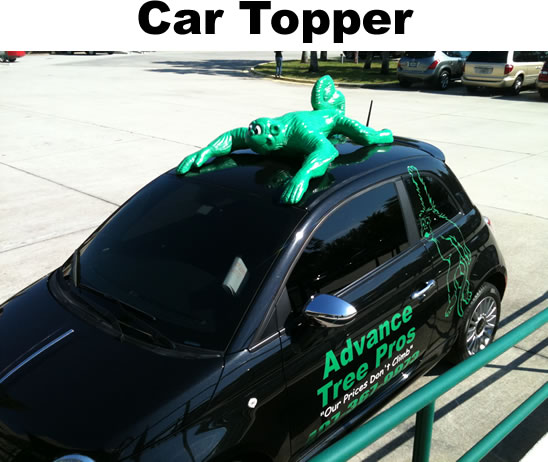 Green Monkey custom car topper