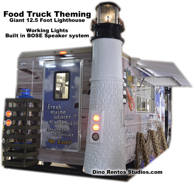 Giant Lighthouse Food Truck Topper - Custom FoodTruck Theme