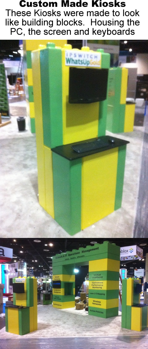 Custom Made 3D Kiosks for PC workstations and Phone charging Stations