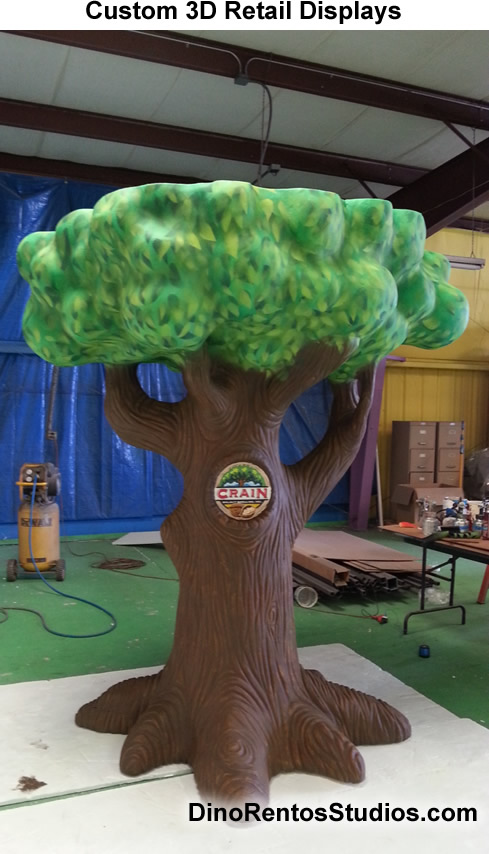 Big Walnut Tree Foam Sculpture Prop for retail and trade show use.