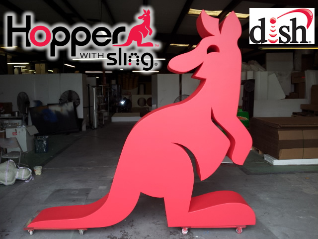 Giant Hopper Logo 3D foam Sculpture for Retail Decor