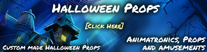 Custom Halloween foam props, displays and decorations
