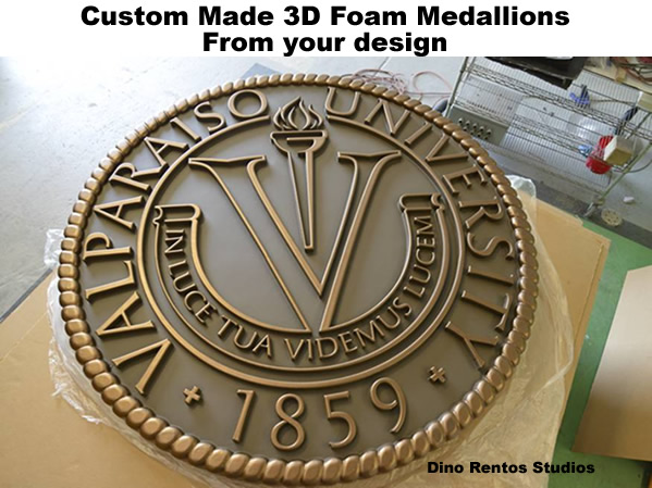 Custom Made 3D Foam Medaillion from your logo