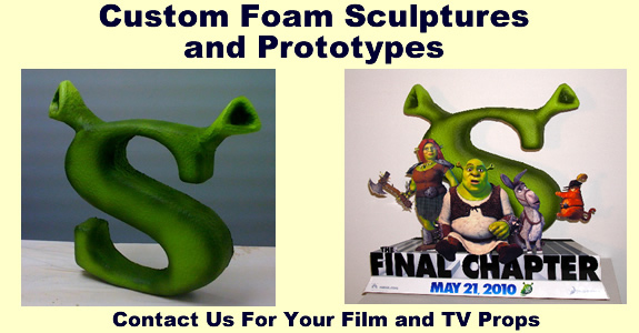 Movie Release Cardboard and Foam Props, Displays, Sculptures and statues.
