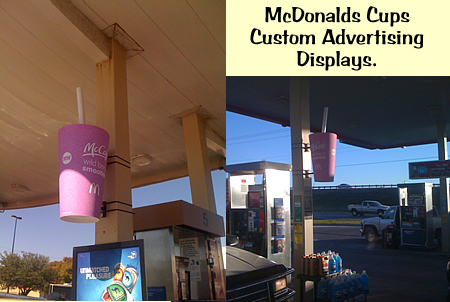 Giant McDonalds Smoothie cups foam props displays