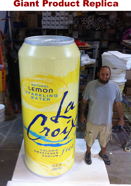 Giant 3d foam prop soda can for product replica
