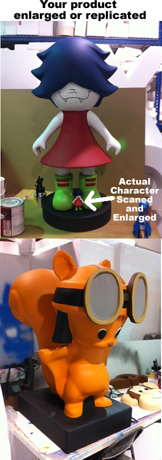 toy company product enlargment 3d foam prop display