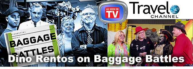 "DIno Rentos Studios on The Travel Channels' Baggage Battles - ""Walk The Plank"" Season4 - Episode7"