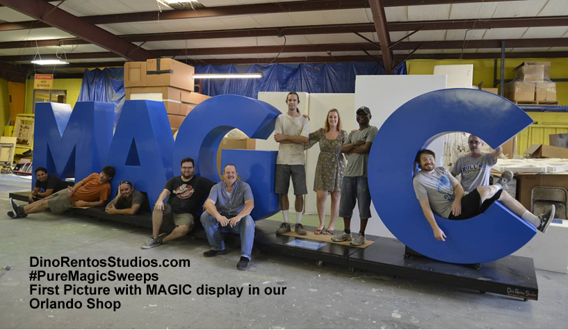 Giant Marketing Letters for Orlando Magic #PureMagicSweeps