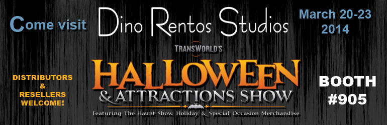 Dino Rentos Studios at Transworld 2014 Halloween show Booth 905