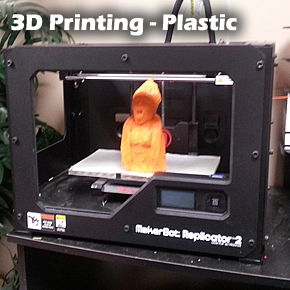 3D Printing services in extruded PLA plastic