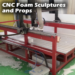 CNC Foam Cutting - Sculptures & Props