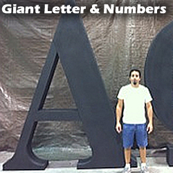 Big Giant Large Letters - Numbers