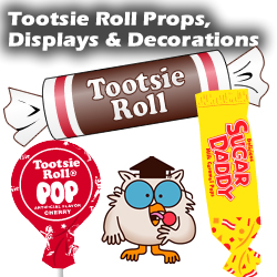 Tootsie Roll Props, Displays & Decorations