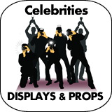 Celebrities Cardboard Cutout Standup Props