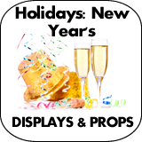 Holidays: New Year's Cardboard Cutout Standup Props