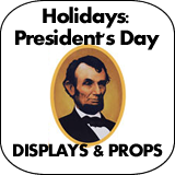 Holidays: Presidents' Day Cardboard Cutout Standup Props