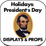 Holidays: Presidents Day Cardboard Cutouts