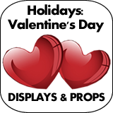 Holidays: Valentine's Day Cardboard Cutouts