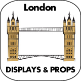 London Cardboard Cutout Standup Props