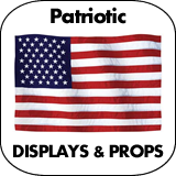 Patriotic & July4th Cardboard Cutout Standup Props