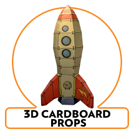 3d cardboard cutout props and sculptures