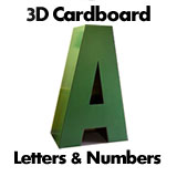 3D Cardboard Letters and Numbers