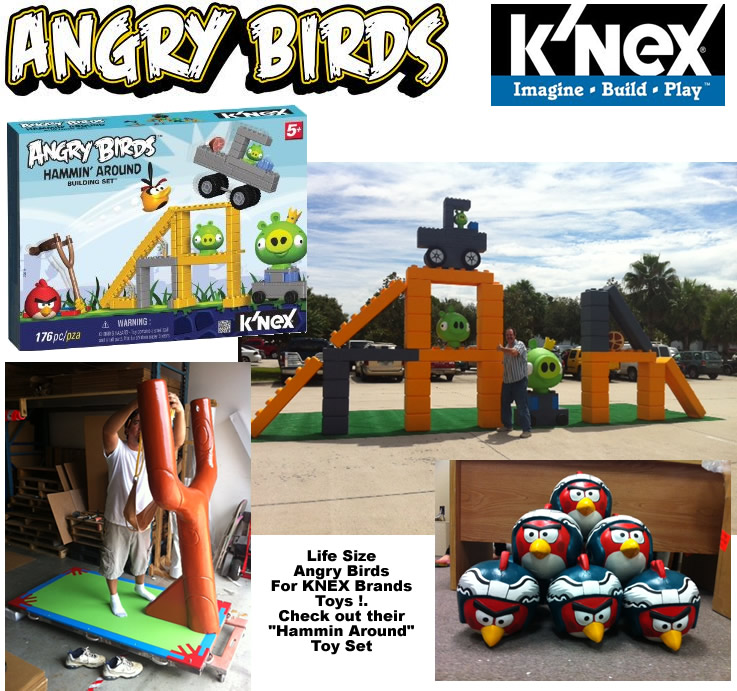 Real Life Angry Birds Set -Scenic sculpture prop