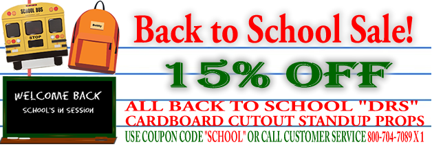 Back to School Cardboard Cutout Standup Sale Discount