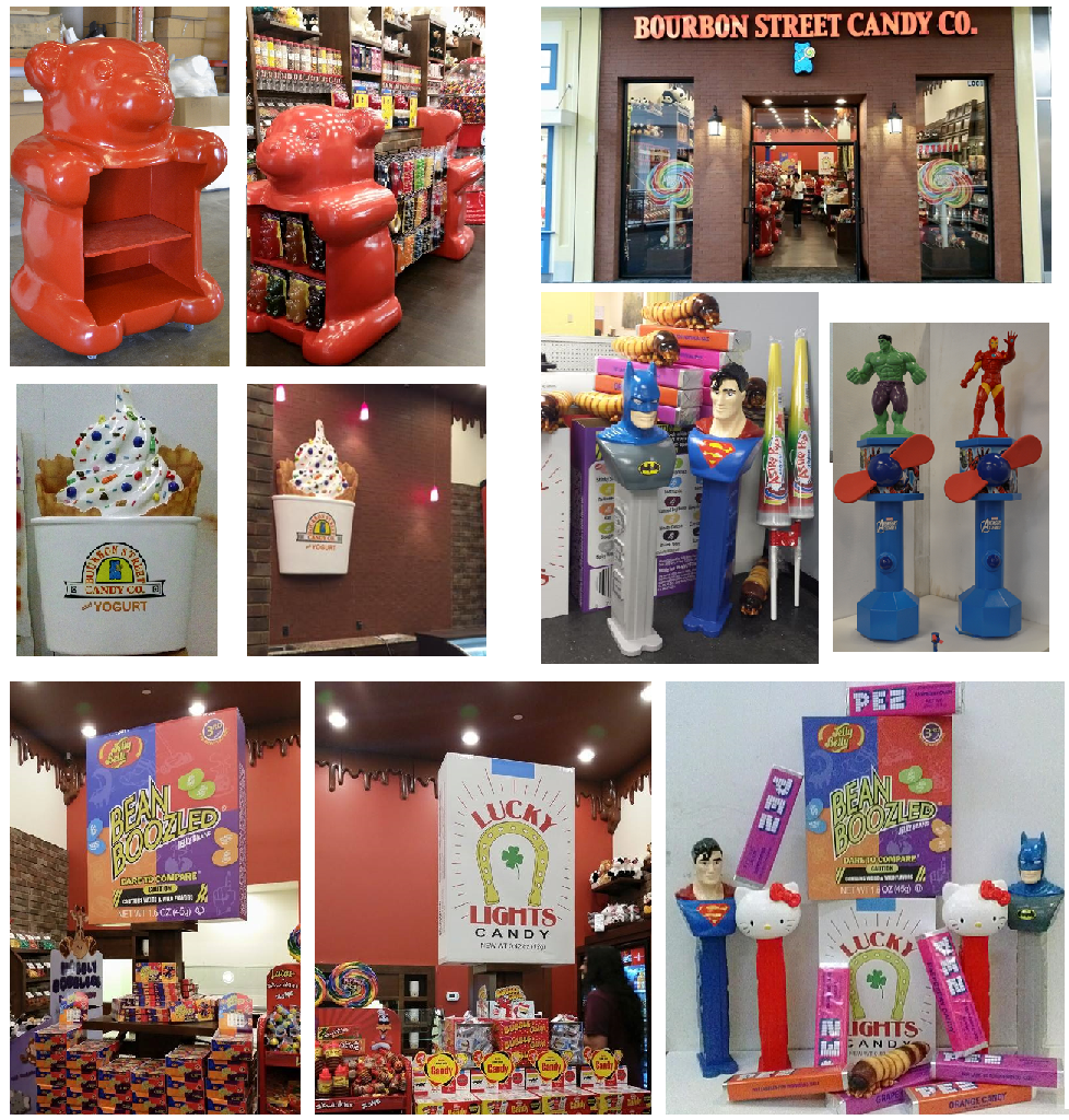 Custom Foam Candy Retail Store Props and Displays
