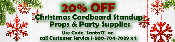 Christmas Cardboard and Party Supply Sale 20% Off Discount