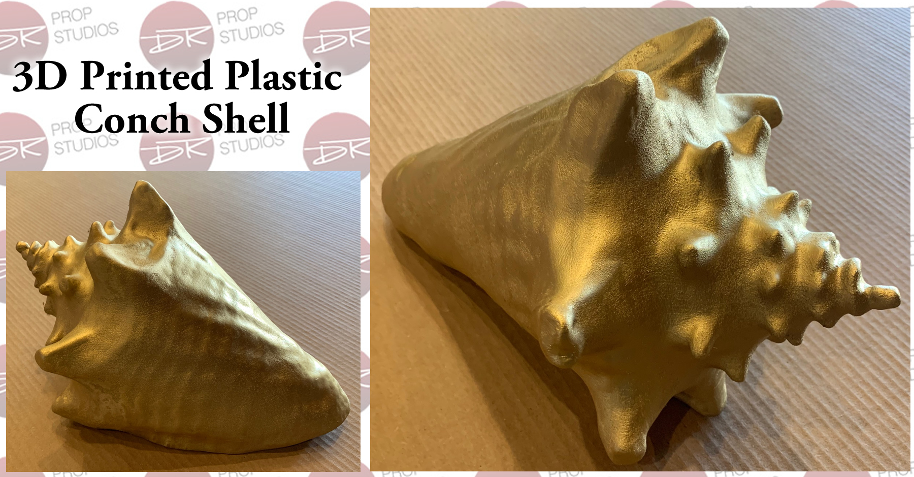 Conch Shell 3D Printed Plastic Prop